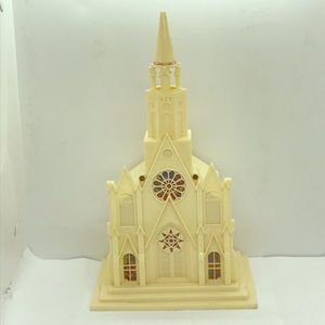 Vintage Plastic Village Church for Christmas